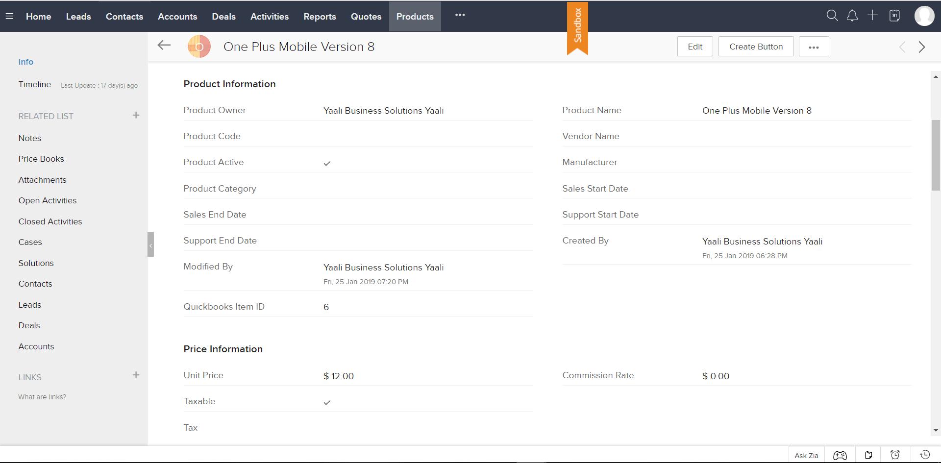 Zoho CRM integration with QuickBooks Online | QuickBooks CRM
